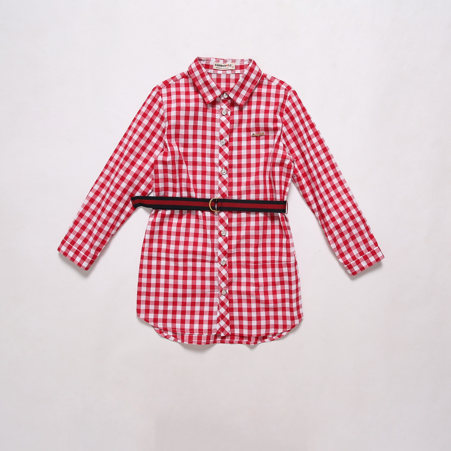 CANDYDOLL The new autumn children 39 s dress casual plaid long style of children 39 s shirt cotton long sleeve girl 39 s dress in Dresses from Mother amp Kids
