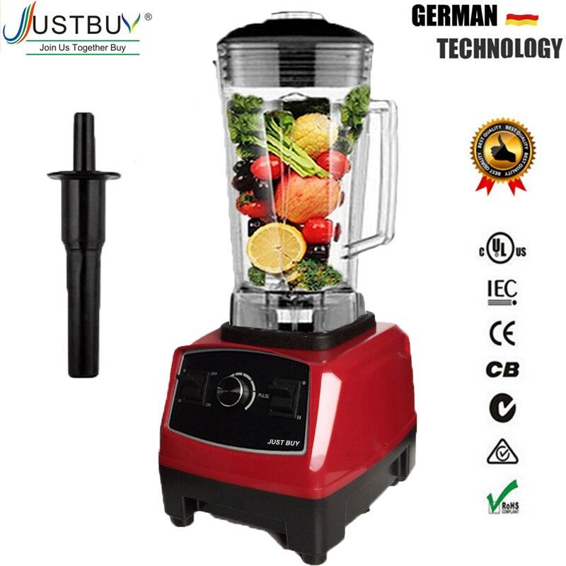 Libre de BPA 2200 W pesado comercial licuadora profesional licuadora de procesador de alimentos Japón hoja exprimidor hielo batido de la máquina