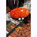 40-дюймовая круглая 1 шт., кружевная скатерть на Хэллоуин, черная паутина, кружевная мантия для Хэллоуина, Вечерние Декорации, Декорации для ф...