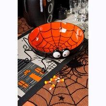 40 cal okrągły 1 sztuk Halloween koronkowy obrus czarny pająk strony internetowej koronki płaszcz dla impreza z okazji Halloween dekoracji dekoracja do tła