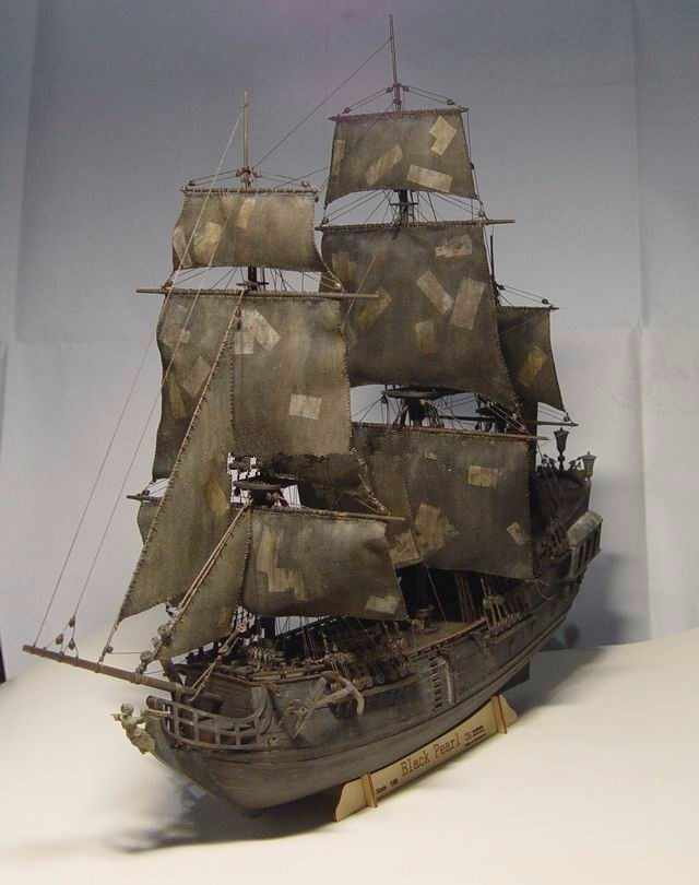 NIDALE model Scale 1/96 black pearl Pirates of the Caribbean wooden sail baot model kit include English specification