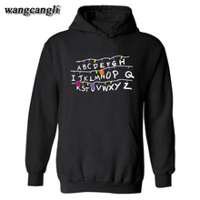 Trendy Faces Stranger Things Hooded Mens Hoodies and Sweatshirts for Autumn with Hip Hop Winter Hoodies Men Brand 3XL