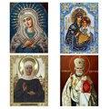 5d diy diamante pintura mosaico rússia humano virgem e criança estilo rodada strass pintura diamante bordado clássico