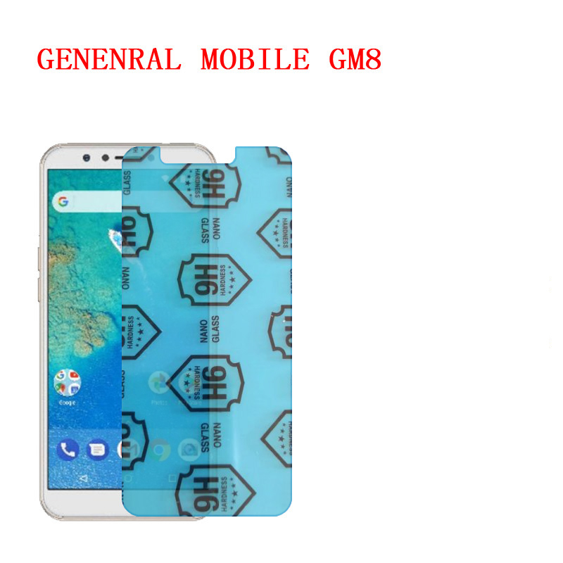 (2-Pack) 9H flexible glass screen protector For GENENRAL MOBILE GM8(China)
