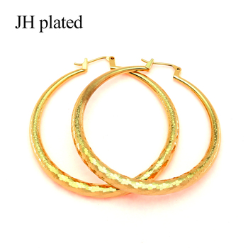 JHplated Africa Popular new styles Fashion jewelry Wedding Gold Earrings for women Party Send a friend Gifts Middle scaly East image