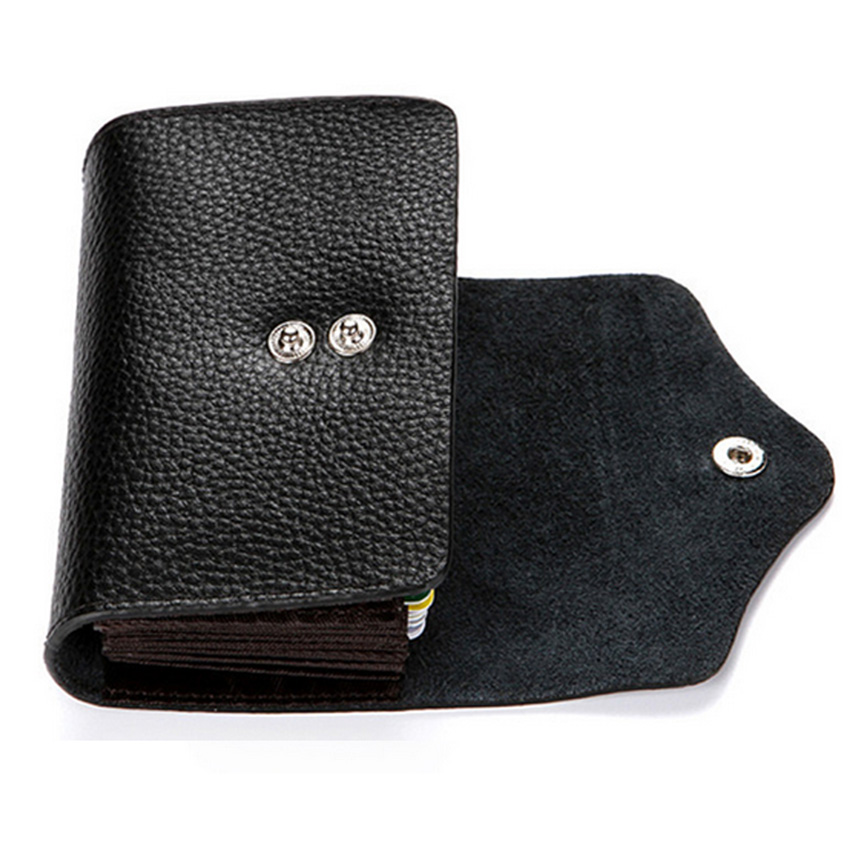 Kreditkort Hållare RFID Card Case Walllet Casual Leather Små Kort - Plånböcker - Foto 3