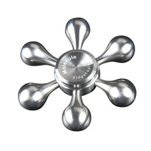 2017 Hand Spinner Stainless Steel Bearing Finger Spinner Metal Kids/Adult Funny Anti Stress gyro Toy 6-blade Detachable