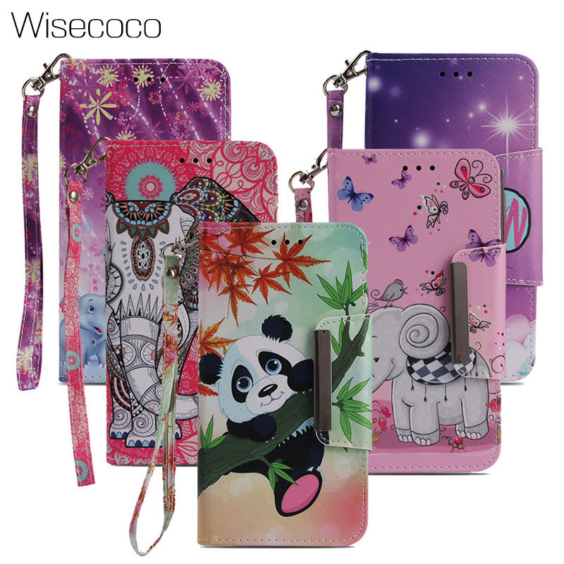 Leather Wallet Flip Case for Huawei P20 Mate 10 Pro Lite Y5 Y9 Y7 2018 Coque Lovely 3D Cat