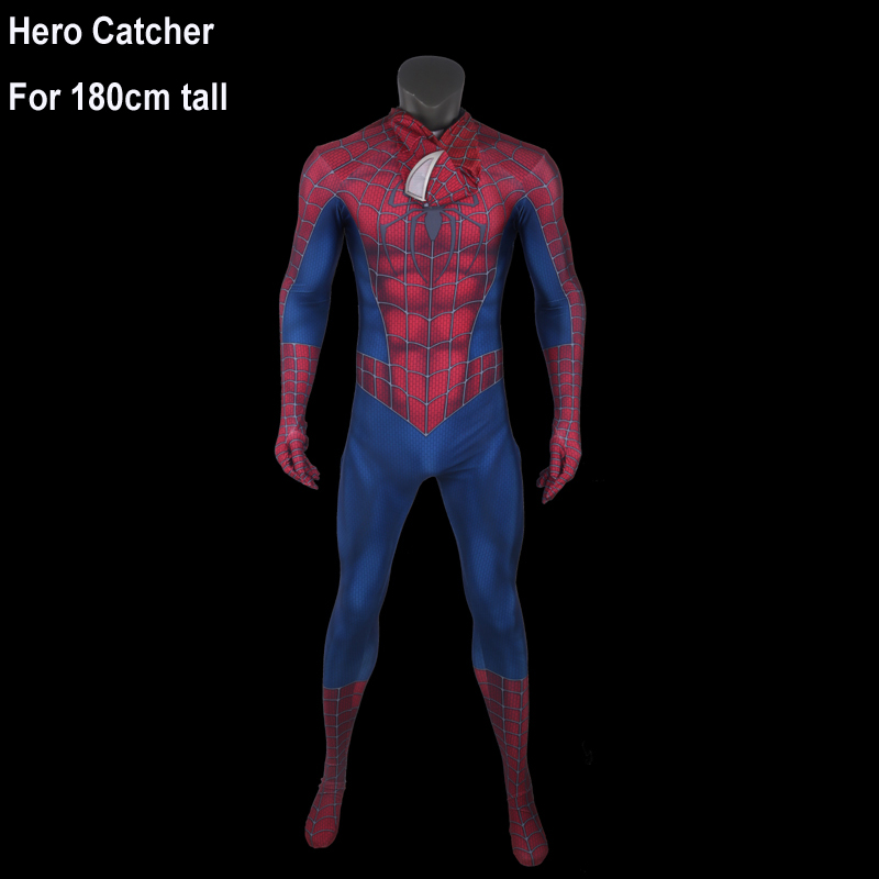 Hero Catcher Top Quality 180cm tall Raimi Spiderman Cosplay Costume Fullbody Raimi Spiderman Costume For Man