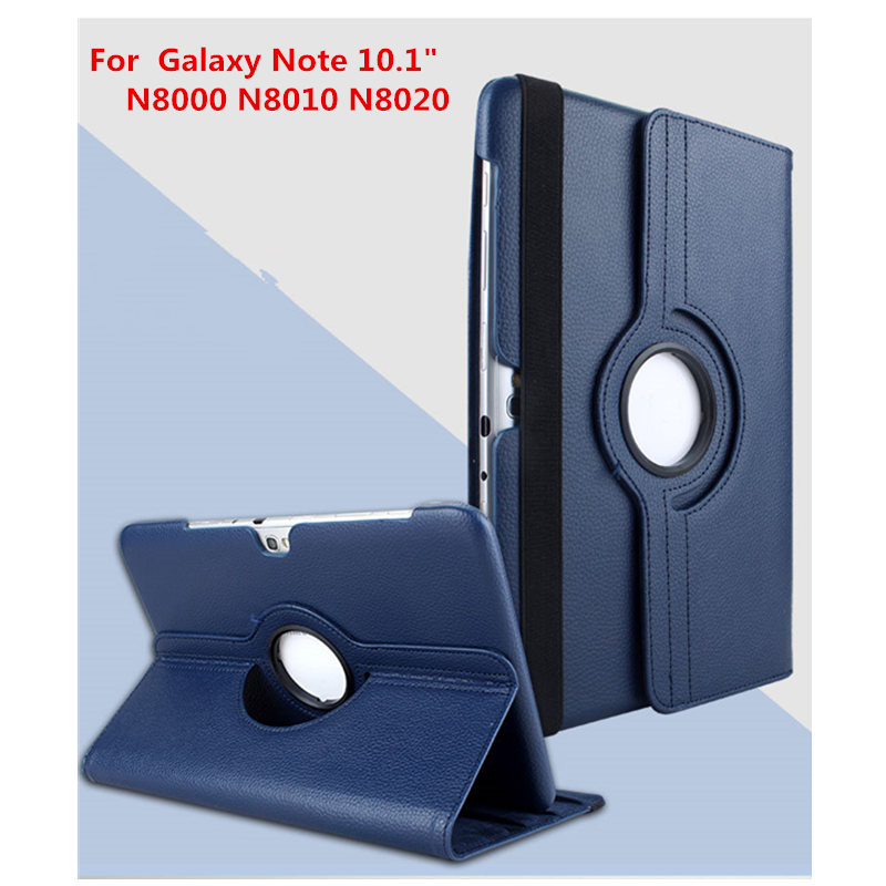 Business 360 Degree Rotating Litchi Stand PU Leather Cover Case For Samsung Galaxy Note 10.1 GT-N8010 N8020 N8013 N8000 10.1 2018 hot 360 degree rotating leather case cover for samsung galaxy note 10 1 gt n8000 n8010 n8020 protective shell stylus film