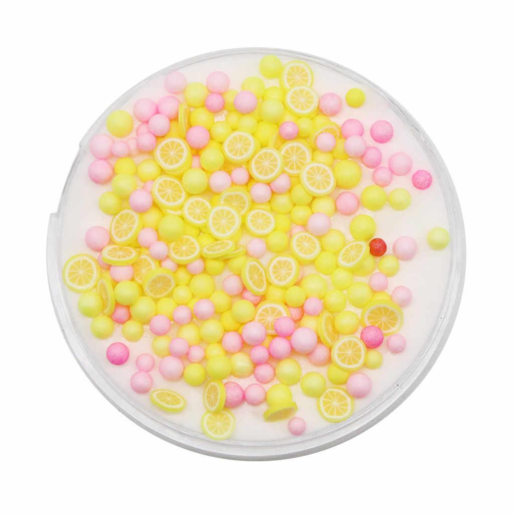 DIY прозрачная слизь игрушки цвета Фрукты милые грязь слизь шпатлевка ароматизированный стресс антистресс мягкая глина для творчества слизь декомпрессионная игрушка