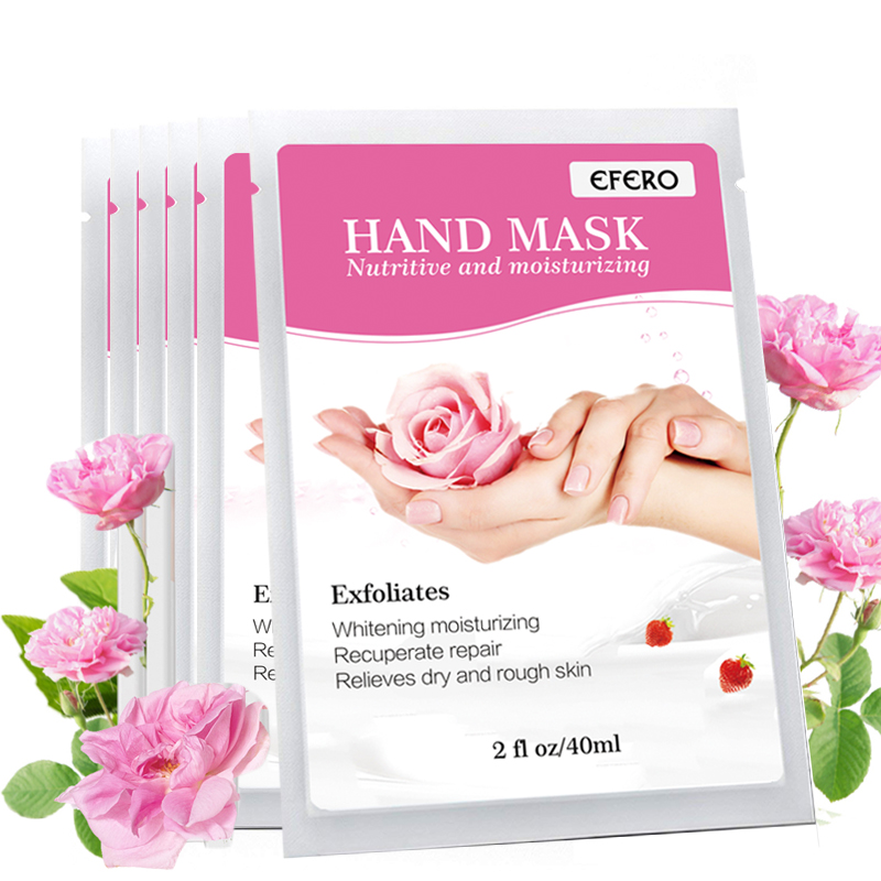 8pack=16pcs Hand Mask Moisturizing Spa Gloves Hands Care Moisturizing Whitening Skin Care Anti-Aging Hand Film Hand Cream