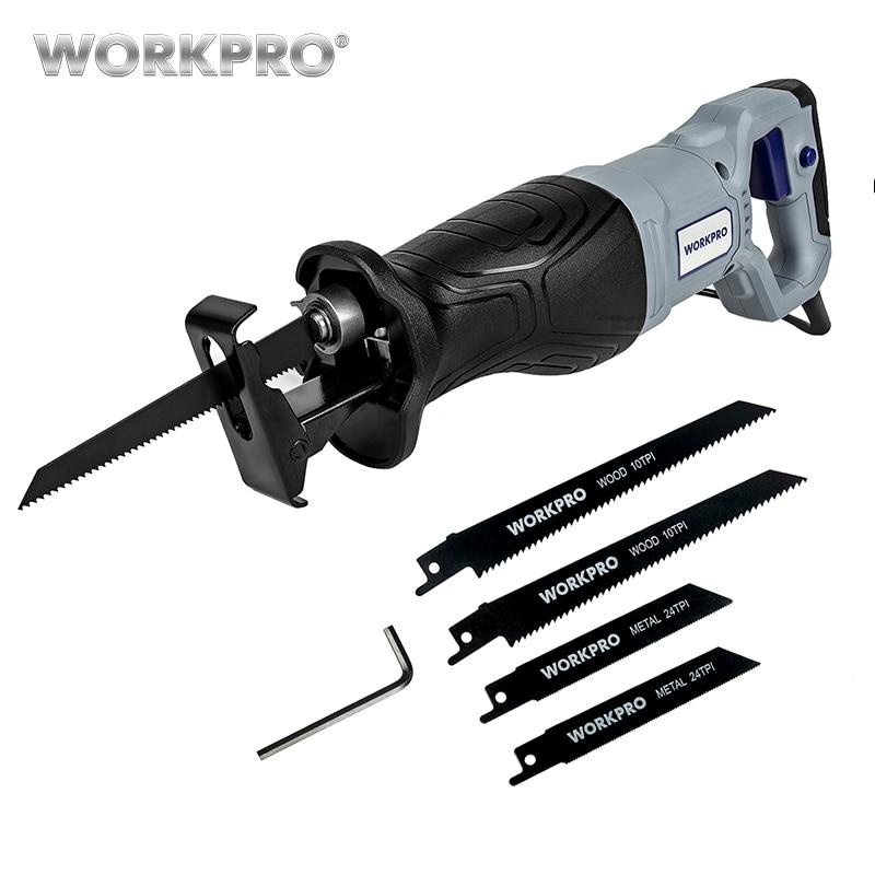 Workpro serra elétrica reciprocating para corte de madeira metal serras de energia diy com lâminas de serra