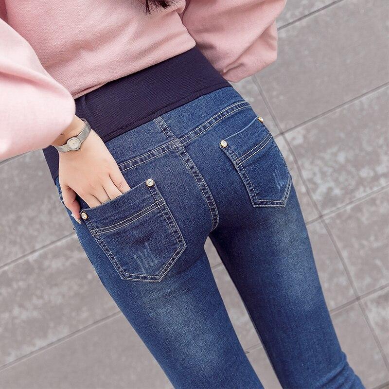 Новинка весна/лето джинсы для беременных офисные женские деловые штаны обтягивающие Подушка для беременных джинсовые брюки M-3XL