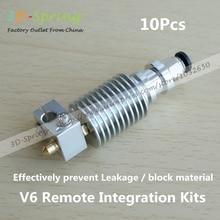 10 Unids V6 Integrated Remote Kit hotend boquilla Extrusora impresora Garganta M7 piezas de la impresora 3d prusa kossel CNC