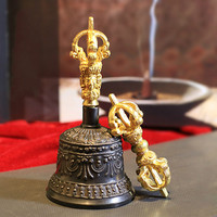 Nepal Imported Copper Bell Sound Ethereal Handmade Tibetan Buddhism Supplies Five Shares Diamond Ring