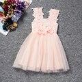 Vestido Da Menina do bebê 2017 Da Marca Meninas Roupas Crianças Roupas de Verão Roupa Dos Miúdos Flores de Renda Vestidos de Princesa Vestidos De Natal