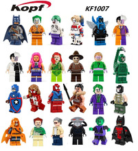 KF1007 Building Blocks Super Heroes Captian America Scorpion Joker Harley Quinn Batman figures Action Bricks Children