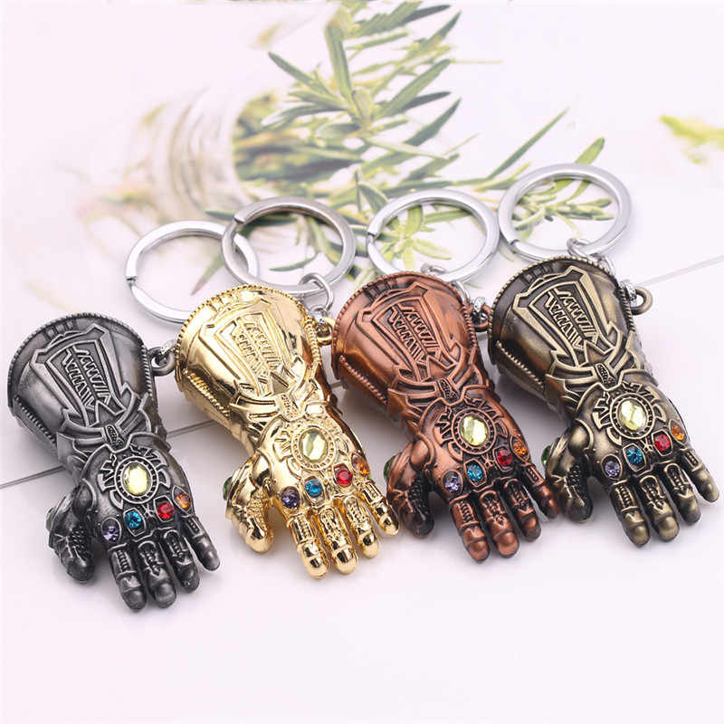 2019 New The Avengers 3 Thanos Infinity Glove Gauntlet Keychain Anime Key Ring For Gift Chaveiro Key chain Jewelry Porte Clef