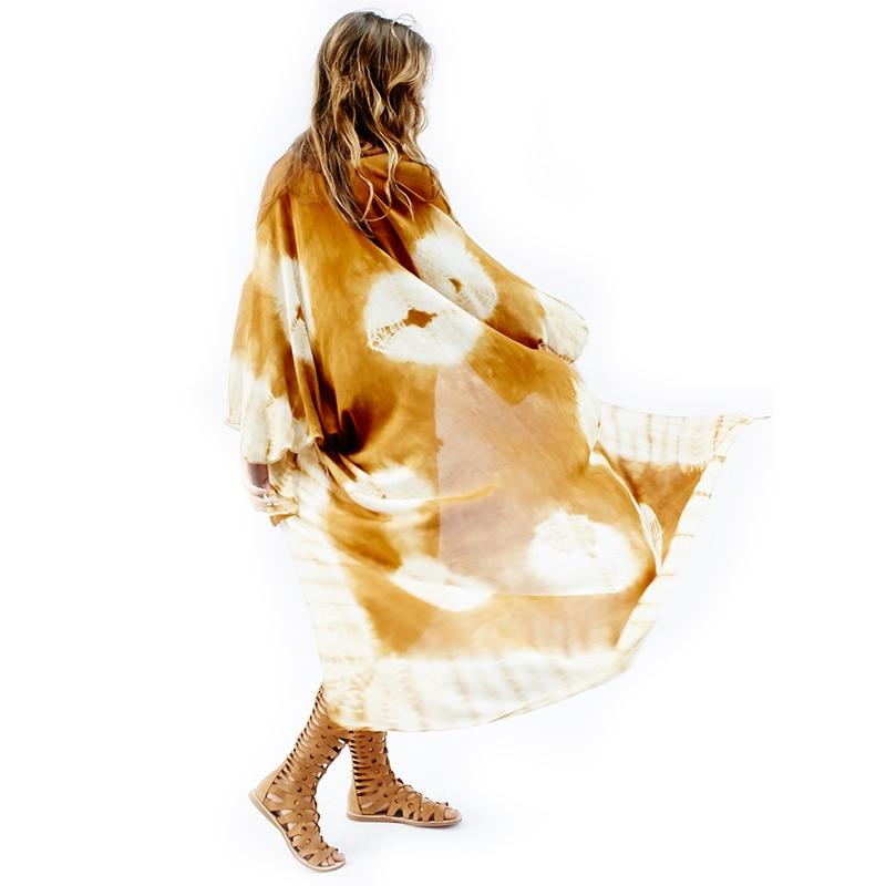 2017 Summer Women Three Quarter Sleeve Kimono Cape Geometrisk Chiffon - Dametøj