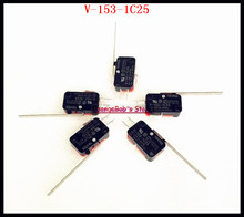 20pcs/Lot V-153-1C25 Micro Limit Switch Long Hinge Lever Arm 15A 250VAC SPDT NO NC Snap Action