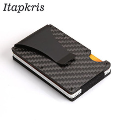 Men Women Credit Card Holder Anti Protect Blocking Rfid Wallet Portable ID Cardholder Clip Porte Carte Travel Metal Case