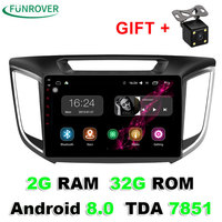 Funrover 2 Din 10 1 Inch Android 8 0 2G 32G Car Radio DVD Player GPS