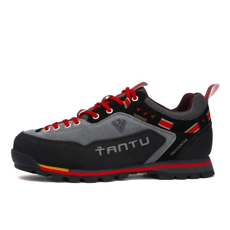 ماء المشي لمسافات طويلة أحذية المشي لمسافات طويلة في الهواء الطلق جلد الغزال الرجال أحذية تسلق الرحلات 3 ألوان أحذية الرجال الأحذية الجبلية كبيرة الحجم 46