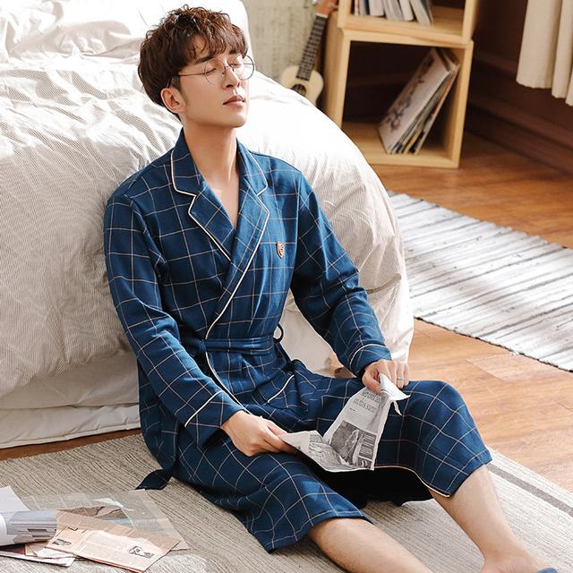 Men's 100% Cotton Kimono Robes