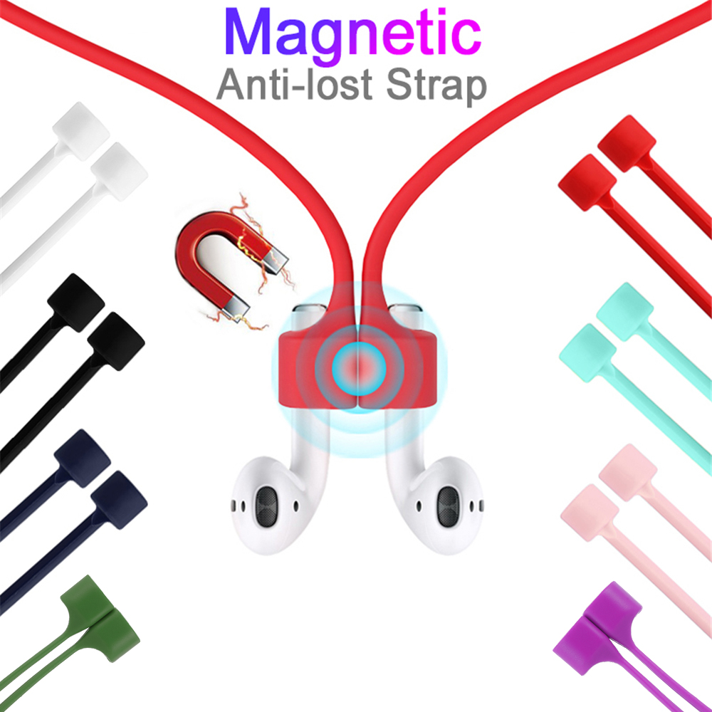 Magnetic Earphone Strap For Airpods TWS Anti Lost Strap Magnetic String Rope For Bluetooth Earphones Silicone Cable Cord