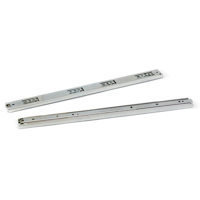 "2 Pcs 10"" 3-fold Full Extension Ball Bearing Drawer Slides"