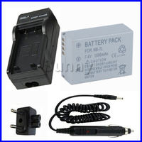 Battery and Charger Kit for Canon NB 7L, NB 7L, NB7L for Canon PowerShot G10, G11, G12, G 12, SX30 IS,SX30IS Digital Camera