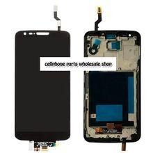 Для LG G2 D802 D805 ЖК Дисплей + Touch Стекло планшета + рамка Ассамблея Черный цвет замена экрана Бесплатная доставка