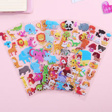 3D Cartoon Animal Wall sticker Bubble Stickers Waterproof DIY Baby Toys for Kids Boy Girl room decoration Wall decals Stickers(China)