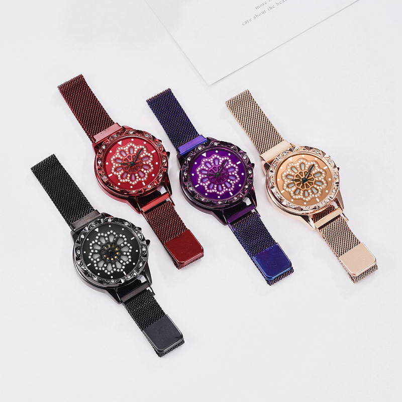 360-degree-rotation-Women-Watch-Mesh-Magnet-Starry-Sky-Ladies-Watch-Luxury-Fashion-Geometric-Quartz-Watch 12