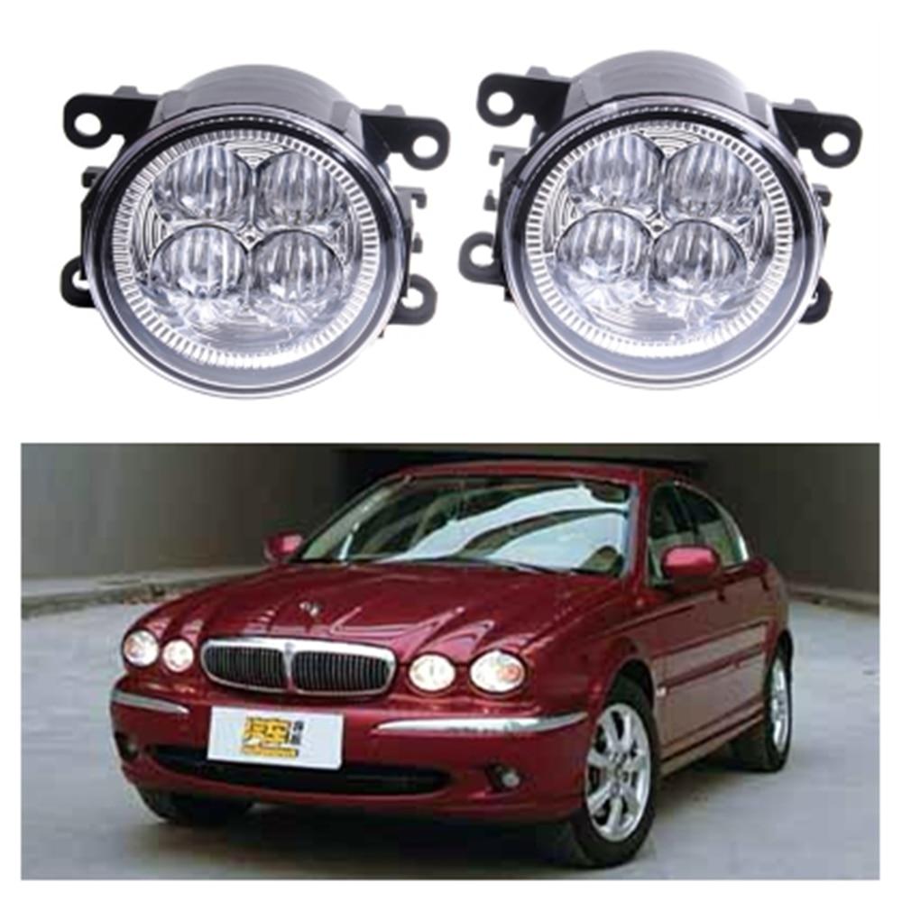 For JAGUAR X-Type CF1 Saloon 2001-2009 10W High power lens set light LED Fog Lights Car Styling fog lamps купить jaguar x type бу