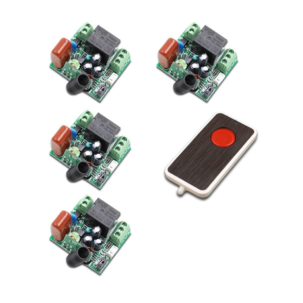 AC 220V 1CH RF Wireless Remote Control Switch 10A Relay Wireless Receiver Remote Switch Transmitter & 4Receivers 315/433Mhz free shipping 220v 1ch 315 433mhz radio rf wireless remote control switch system 6 receiver