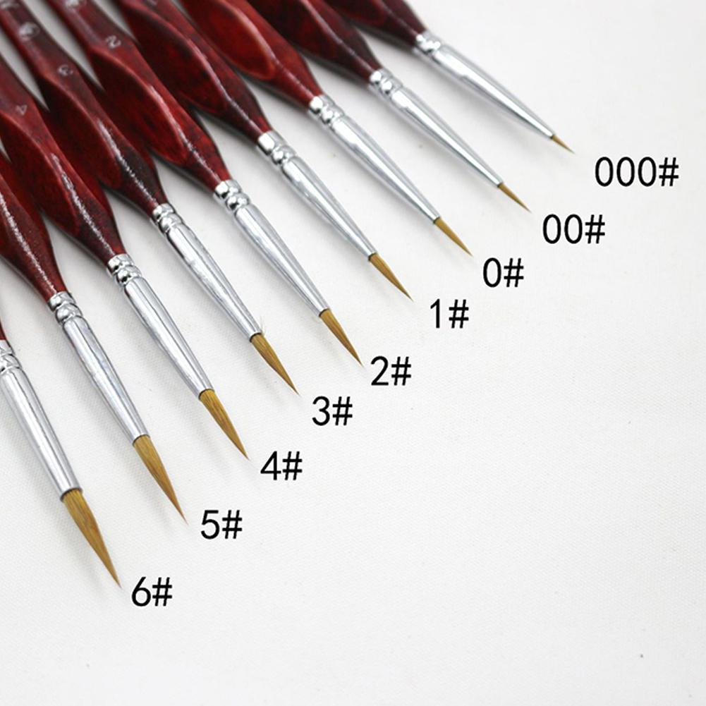 Line Fine Professional Sable Hair Paint Brush Miniature Art Brushes For Drawing Gouache Oil Painting Brush Art Supplies R29(China)