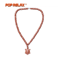 POP RELAX KoreaBio Germanium Tourmaline Stone Necklace Negative Ion Health Care Physiotherapy Long Life Turtle Energy Necklace
