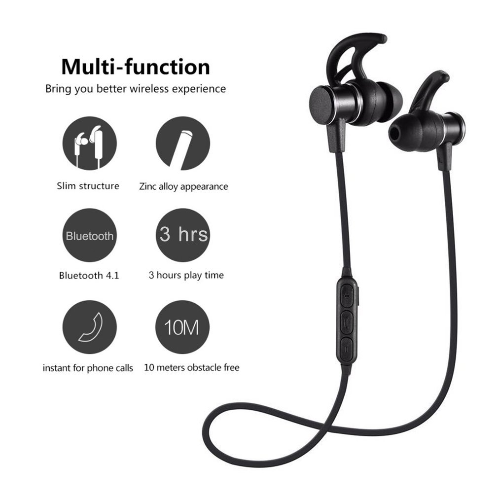 Luli Magnetic Earpods sports Headset Earbuds Earphones Wireless Bluetooth for Apple IPhone Xiaomi Sony Huawei Phone Earpiece