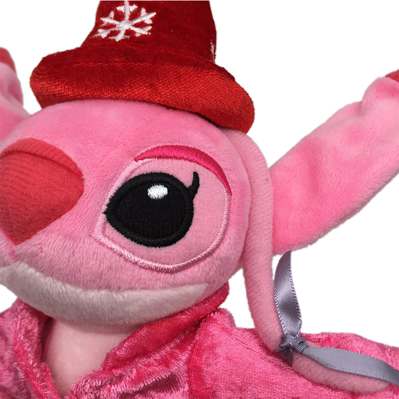 High Quanlity Cute Pink Stitch Plush Toys 25cm Cartoon Magician Stitch Stuffed Dolls Kids Birthday Gift in Movies TV from Toys Hobbies