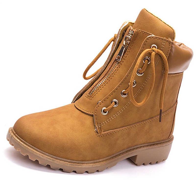 Vintage Women Boots Casual Short Boots Bandage Platform Ankle Boots Punk Women Winter Shoes Fur Warm Snow Boots Famale Chaussure