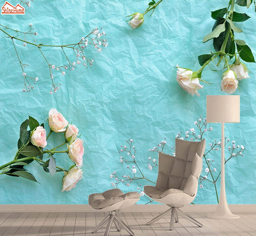 Retro Rose Wallpapers 3d Photo Wallpaper Nature Mural Self Adhesive Wallpapers For Living Room TV Background Papel De Parede Art