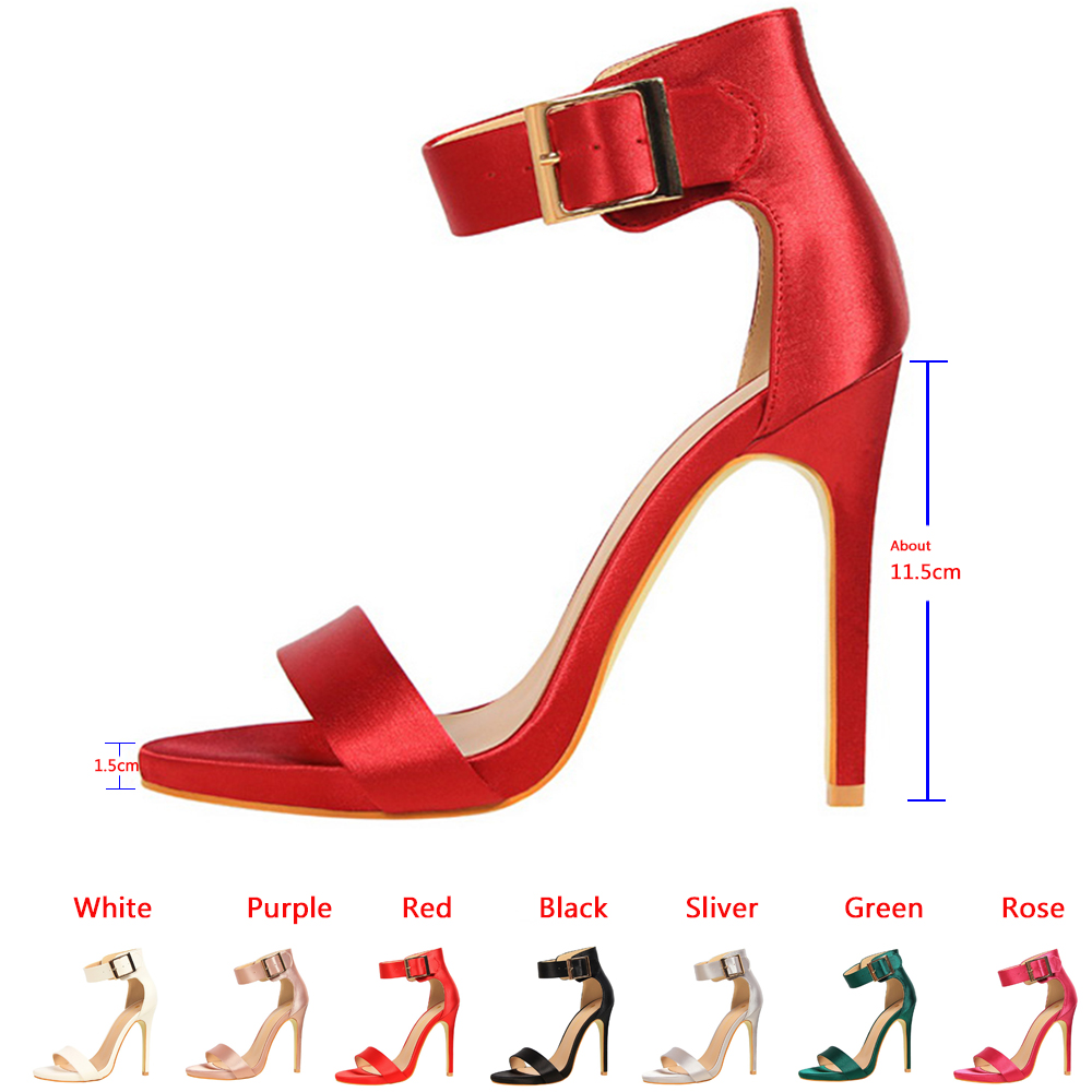 Doratasia 2019 wholesale dropship Classic 11cm High Heels Fetish Quality Silk sexy Sandals Female Summer women's Shoes Lady