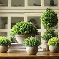 Simulation arbre bonsaï café vert plantes succulentes plantation pot fleur herbe bureau noël bonsail ornement décoration mariage