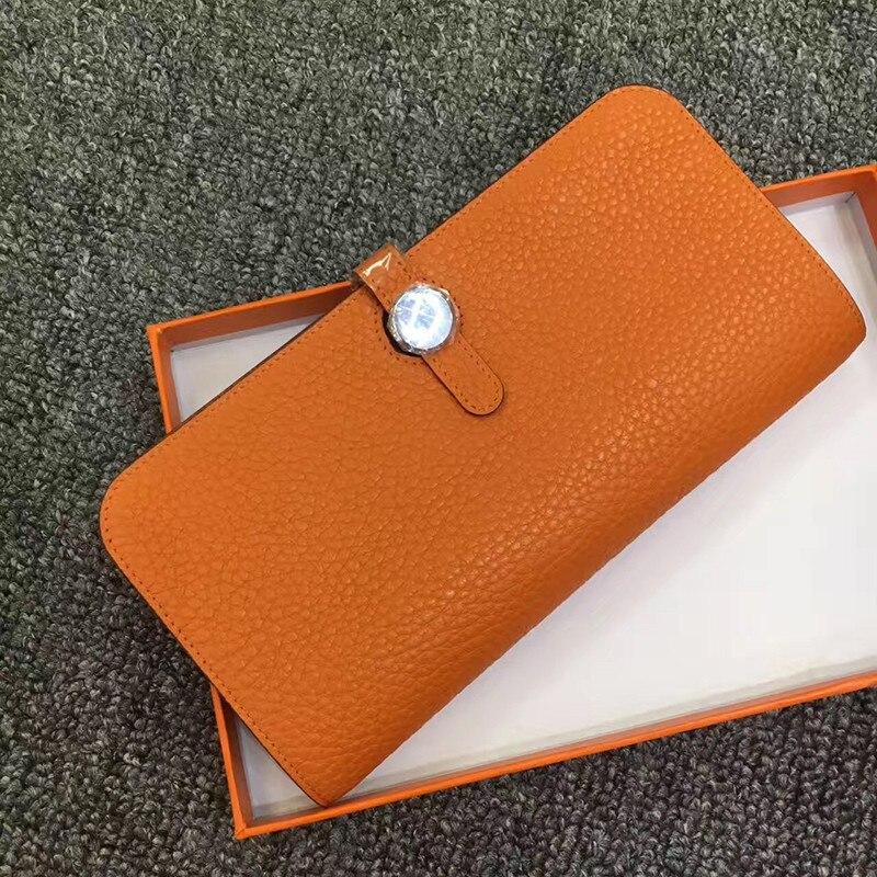 Lady portefeuille femme en cuir Long embrayage à la mode Zipper marque argent sac magique Zipper porte-monnaie portefeuille 2018 cadeaux fille chaud