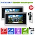 Ysecu 7 дюймов монитор видеодомофоны интерком запись 1 камеры 2 монитора HD 1200TVL непромокаемые камера-обскура дверной звонок камеры 12 В