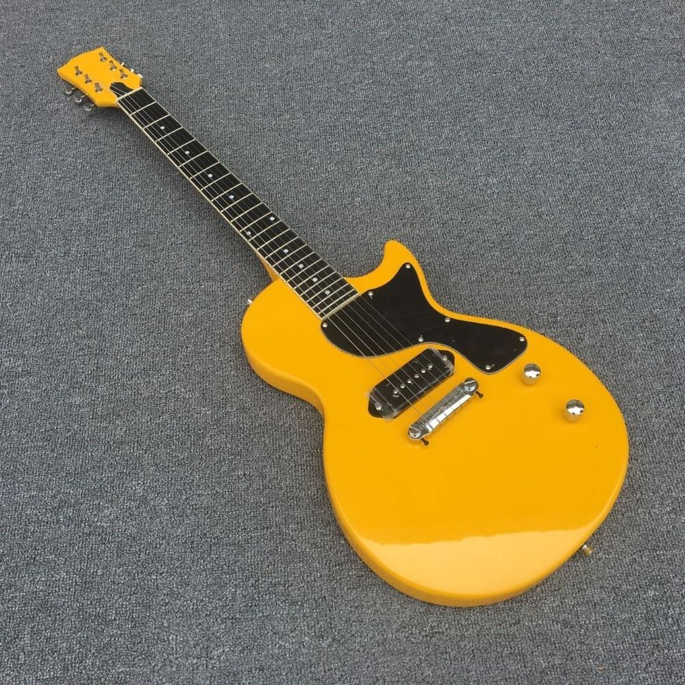 Standard LP plane model of the electric guitar Metal blue guitar P90 pickup Rosewood fingerboard 0321,Real photos! syh 02 lp electric guitar pickup cover white silver pair