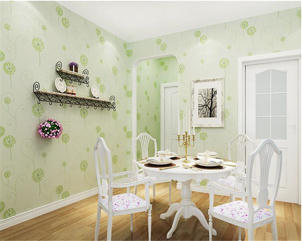 beibehang Pastoral fashion b dandelion pink wall paper bedroom living room romantic romantic non-woven3d wallpaper small fresh beibehang wall paper pune girl room cartoon children s room bedroom shop for environmental non woven wallpaper ocean mermaid