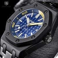Saatler'ten Kuvars Saatler'de BENYAR Yeni Yaratıcı erkek Saatler Rahat Moda Su Geçirmez İş İzle Erkekler Paslanmaz Çelik Kol Saati Erkek reloj hombre hediye